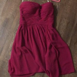 Donna Morgan berry sweetheart chiffon dress